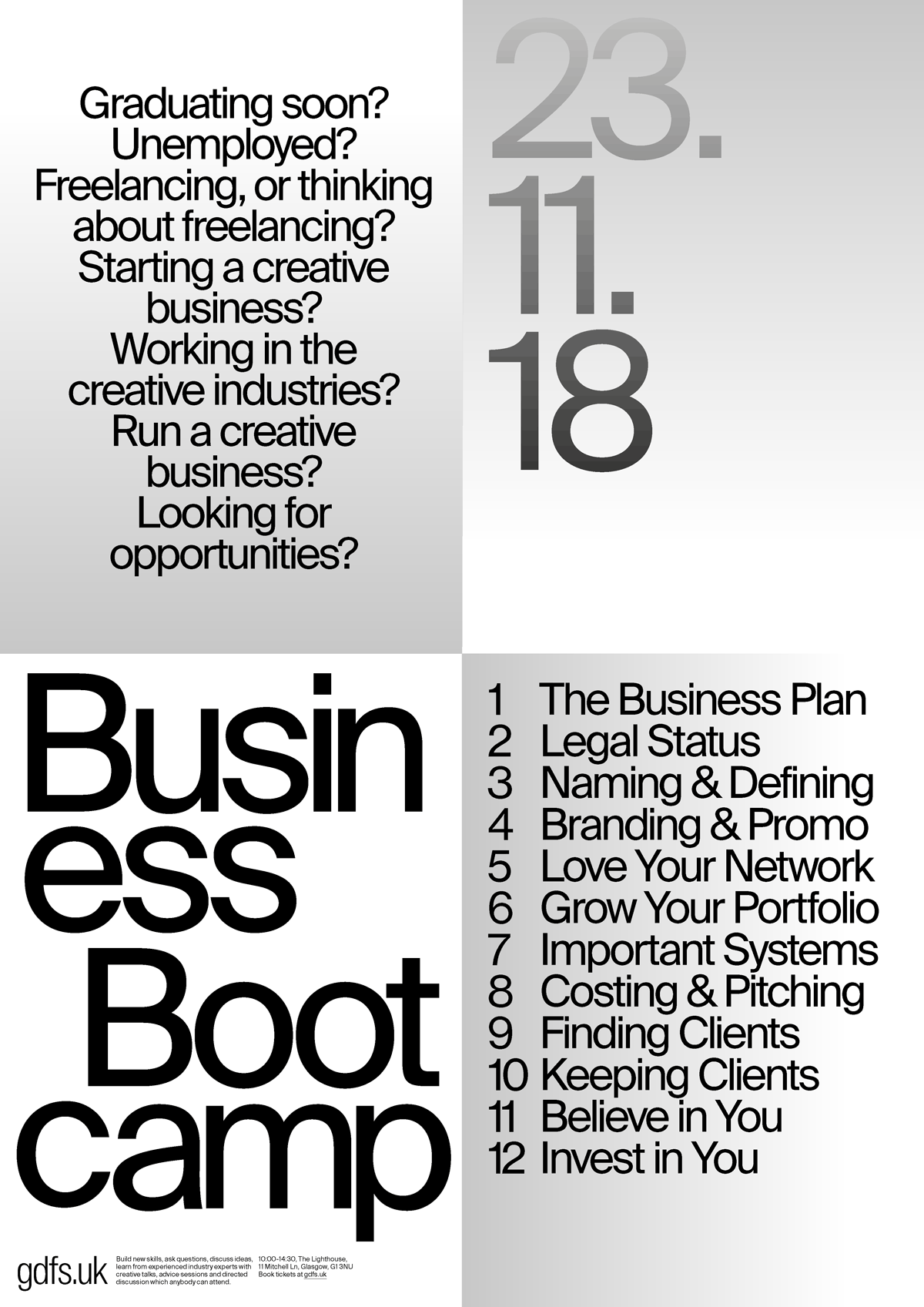 Business Bootcamp, event poster
